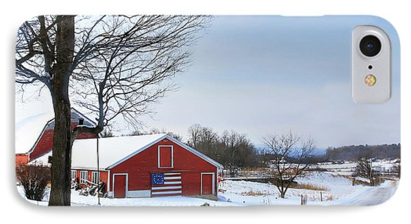 IPhone Case featuring the digital art Americana Barn In Vermont by Sharon Batdorf