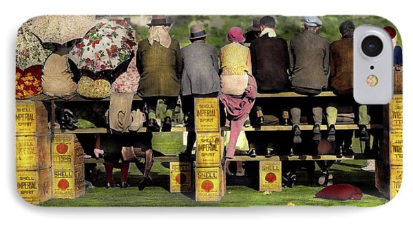 Americana - People - A Well Oiled Game 1932 IPhone Case by Mike Savad