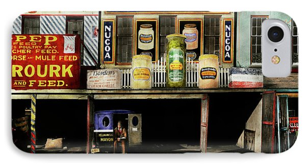 Americana - Signs - Feeding Time 1936 IPhone Case by Mike Savad