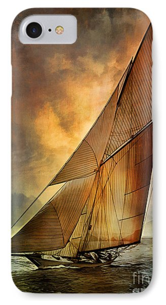 IPhone Case featuring the digital art America's Cup 1 by Andrzej Szczerski