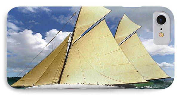 1920 America's Cup - Resolute Vs Shamrock Iv Schooners Marine Art IPhone Case