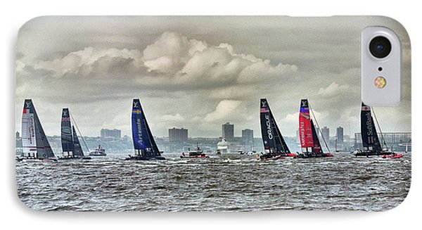 America's Cup Contestants In New York Harbor, May 2016 IPhone Case