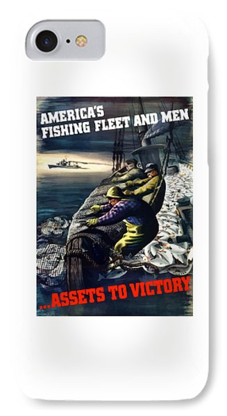 America's Fishing Fleet And Men  Phone Case by War Is Hell Store