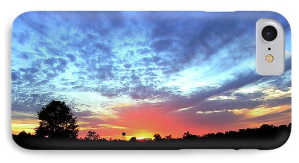 IPhone Case featuring the photograph City On A Hill - Americus, Ga Sunset by Jerry Battle