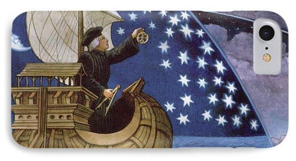Amerigo Vespucci Navigating By The Stars On His 3rd Voyage IPhone Case