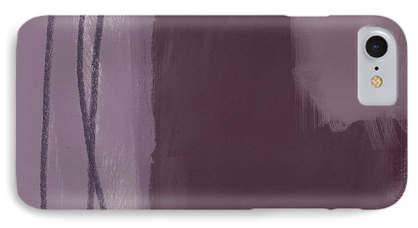 Amethyst 3- Abstract Art By Linda Woods IPhone Case