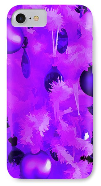 IPhone Case featuring the photograph Amethyst Christmas Tree Ornaments by Aimee L Maher Photography and Art Visit ALMGallerydotcom