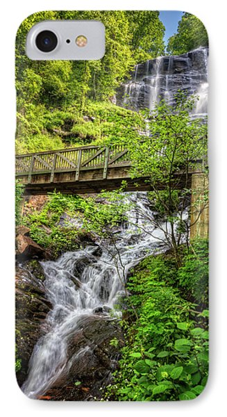 IPhone Case featuring the photograph Amicalola Falls Top To Bottom by Debra and Dave Vanderlaan