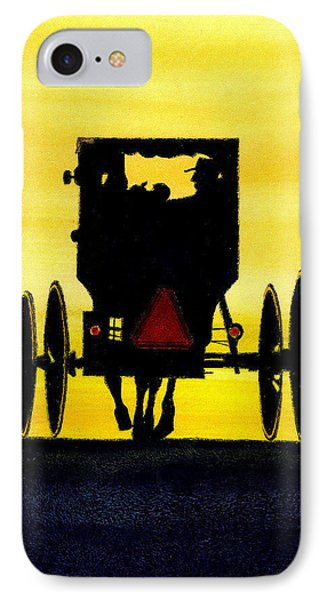 Amish Buggy At Dusk Phone Case by Michael Vigliotti