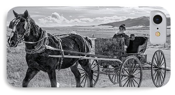 Amish Buggy Driver IPhone Case by John Bartelt