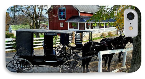 Amish Country Horse And Buggy IPhone Case by Frozen in Time Fine Art Photography