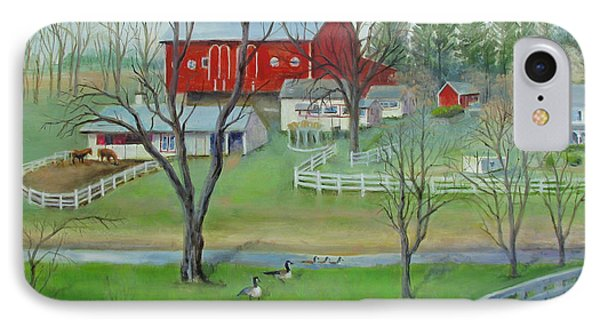 IPhone Case featuring the painting Amish Farm by Oz Freedgood