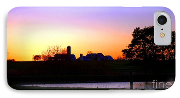 Amish Farm Sunset IPhone Case by Olivier Le Queinec