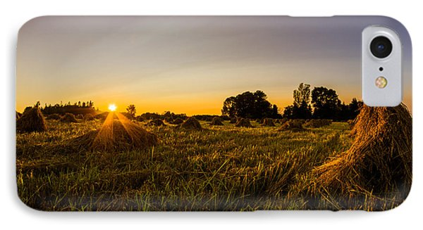 IPhone Case featuring the photograph Amish Harvest by Chris Bordeleau