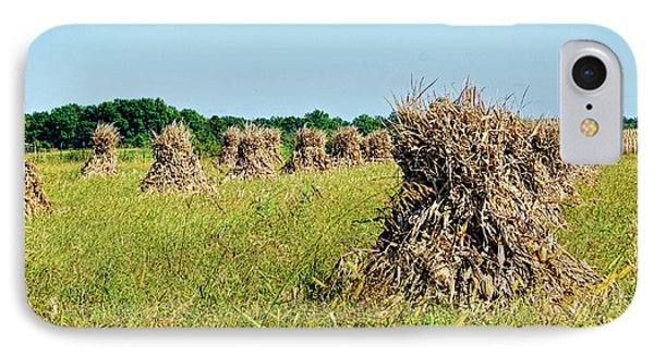 IPhone Case featuring the photograph Amish Harvest by Cricket Hackmann