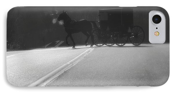 Amish Horse And Buggy In Winter IPhone Case by Dan Sproul