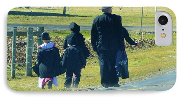 Amish Sunday 1 Of 5 IPhone Case by Tina M Wenger