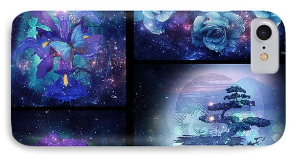 IPhone Case featuring the digital art Among The Stars Series by Mo T