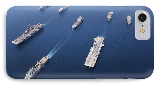 Amphibious Task Force-west In Formation Phone Case by Stocktrek Images
