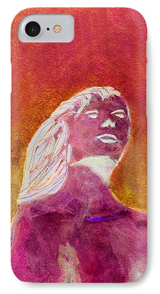 IPhone Case featuring the painting Amphitrite Siren Of Sunset Reef by Donna Walsh