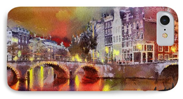 Amsterdam At Night Phone Case by Anthony Caruso