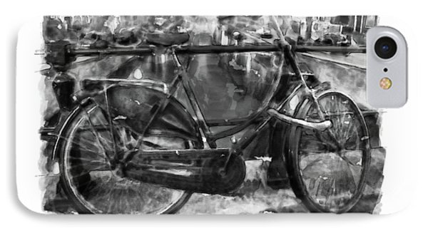 Amsterdam Bicycle Black And White IPhone Case