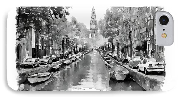 Amsterdam Canal 2 Black And White IPhone Case