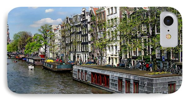 Amsterdam Canal IPhone Case by Anthony Dezenzio