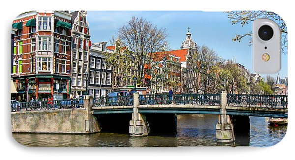 Amsterdam City Scene IPhone Case by Anthony Dezenzio