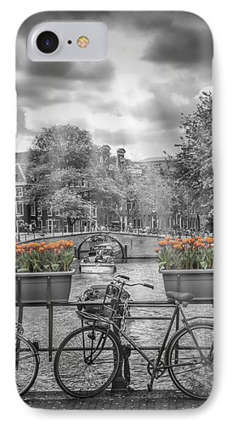 Amsterdam Gentlemen's Canal Upright Panoramic View IPhone Case by Melanie Viola