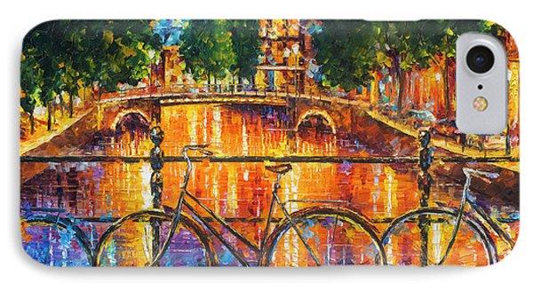 Amsterdam - The Bridge Of Bicycles  Phone Case by Leonid Afremov