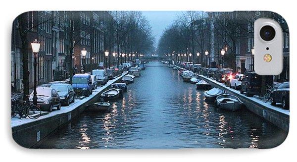 Amsterdam Winter Blues IPhone Case