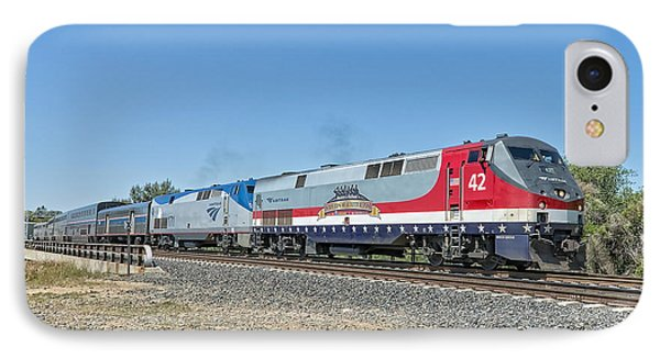 Amtrak 42  Veteran's Special IPhone Case by Jim Thompson