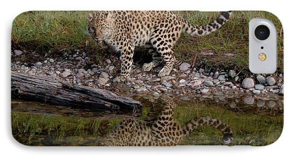Amur Leopard Reflection IPhone Case