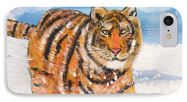 Amur Tiger IPhone Case by Valerie Ornstein