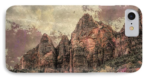 IPhone Case featuring the photograph An Abstract Of Zion by John M Bailey