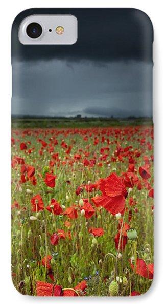 An Abundance Of Poppies In A Field IPhone Case by John Short