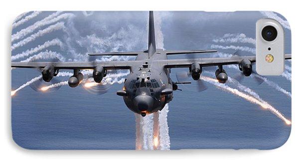 An Ac-130h Gunship Aircraft Jettisons IPhone Case by Stocktrek Images