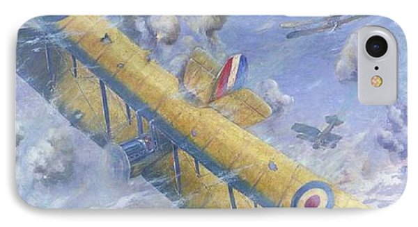 An Aerial Fight, Wwi IPhone Case by Louis Weirter