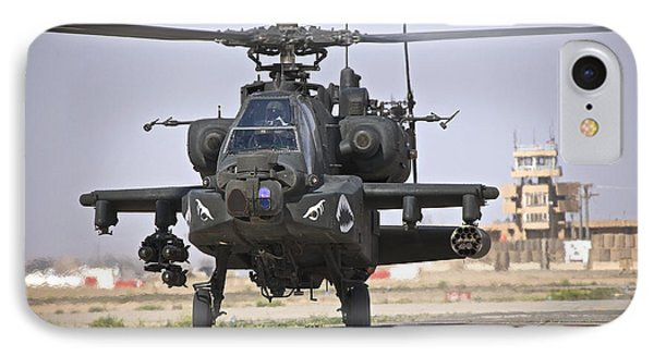 An Ah-64 Apache Helicopter Returns Phone Case by Terry Moore