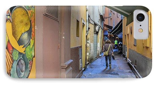 IPhone Case featuring the photograph An Alley In Nice by Allen Sheffield