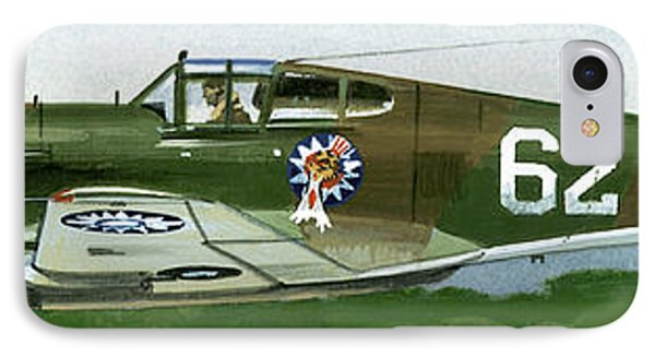 An American Curtiss P40 B Fighter IPhone Case