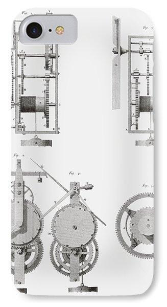 An Ancient Clock Built By Henry De Wick IPhone Case