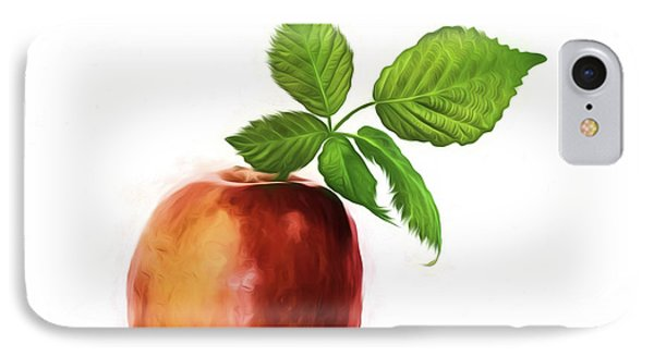An Apple A Day IPhone Case by Shirley Mangini