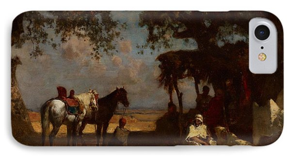 An Arab Encampment IPhone Case by Gustave Guillaumet