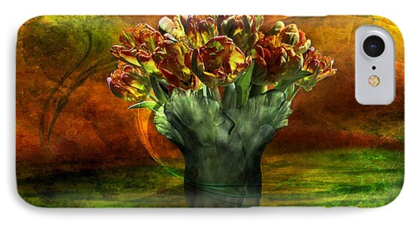 IPhone Case featuring the digital art An Armful Of Tulips by Johnny Hildingsson