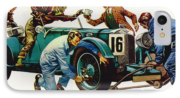An Aston Martin Racing Car, Vintage 1932 IPhone Case by Peter Jackson