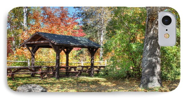 IPhone Case featuring the photograph An Autumn Picnic In Maine by Shelley Neff