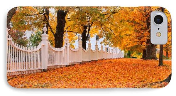 An Autumn Stroll - West Bennington Vermont Phone Case by Thomas Schoeller