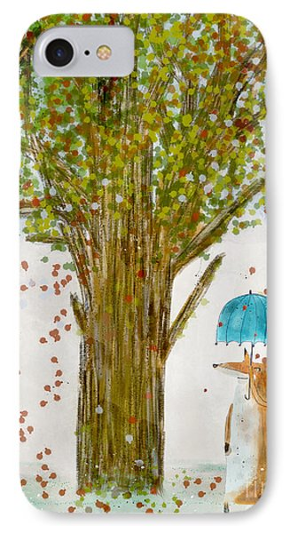 IPhone Case featuring the painting An Autumns Day by Bri B